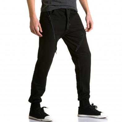 Pantaloni baggy bărbați DelPiero negri ca190116-25 4