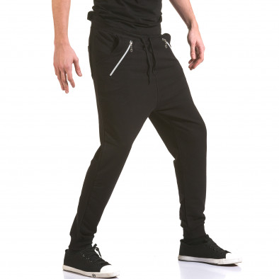 Pantaloni baggy bărbați Franklin negri il170216-139 4