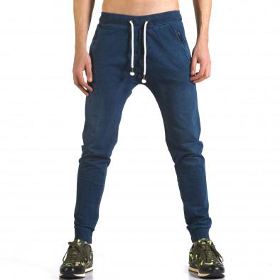 Pantaloni baggy bărbați Enos albaștri it090216-56 2