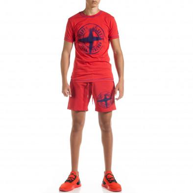Set sportiv roșu pentru bărbați Compass tr010720-4 2
