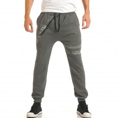 Pantaloni baggy bărbați Charman gri it191016-14 4