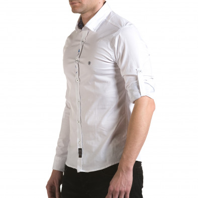 Cămașă cu mânecă lungă bărbați Buqra albă il170216-105 4