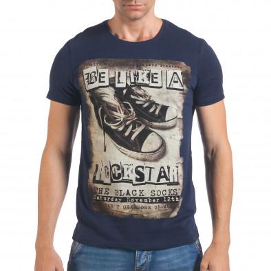 Tricou bărbați Just Relax albastru il060616-9 2