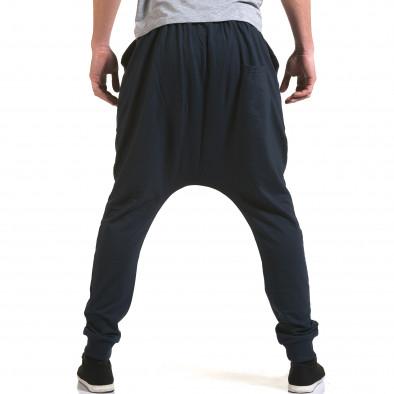 Pantaloni baggy bărbați Dress&GO albaștri it090216-33 3