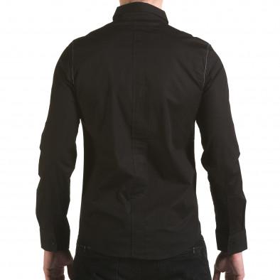 Cămașă cu mânecă lungă bărbați Jeanscollic neagră il170216-92 3