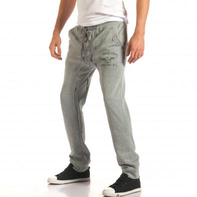 Pantaloni baggy bărbați Bread & Buttons gri it191016-11 4