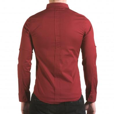 Cămașă cu mânecă lungă bărbați Jeanscollic roșie il170216-93 3