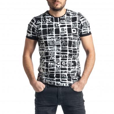 Tricou bărbați Lagos negru tr010221-15 2