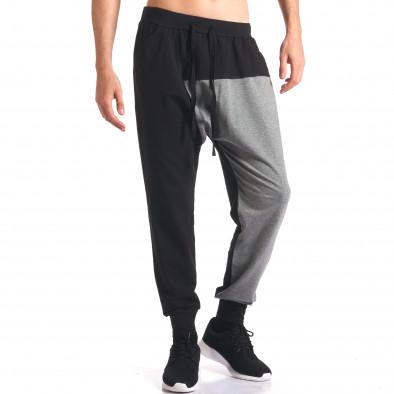 Pantaloni baggy bărbați FCSM negri it260416-39 4