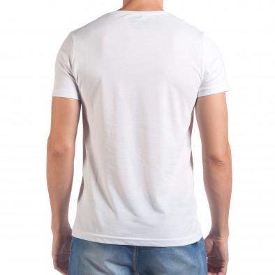 Tricou bărbați Millionaire alb il060616-66 3