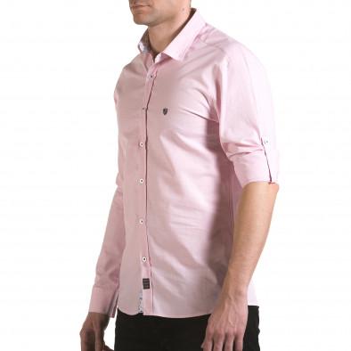 Cămașă cu mânecă lungă bărbați Buqra roz il170216-111 4