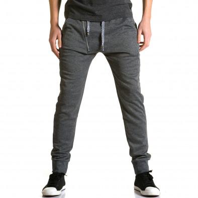 Pantaloni baggy bărbați Furia Rossa gri ca190116-15 2