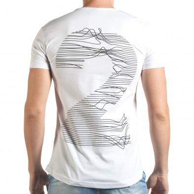 Tricou bărbați Eksi alb il140416-3 3