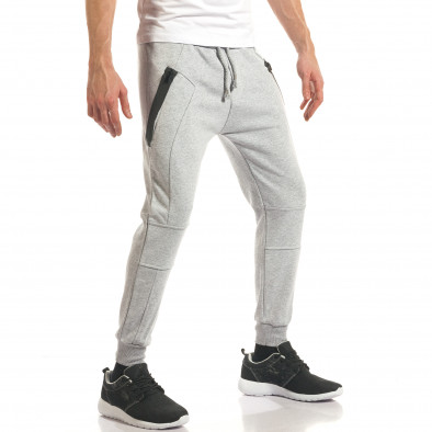 Pantaloni sport bărbați ChRoy gri it140317-67 4
