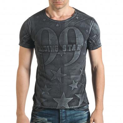 Tricou bărbați Millionaire negru il140416-16 2