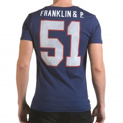 Tricou bărbați Franklin albastru il170216-6 3