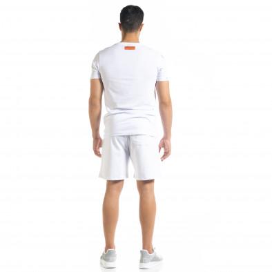 Set sportiv alb pentru bărbați Airplane tr010720-8 3