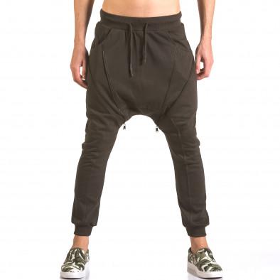 Pantaloni baggy bărbați Devil Slayer maro ca050416-48 2