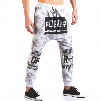 Pantaloni baggy bărbați Vestiti Delle Nuvole albi it160316-7 4