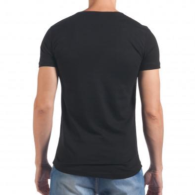Tricou bărbați Eksi negru il060616-75 3