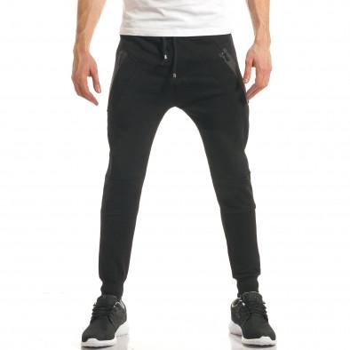 Pantaloni bărbați ChRoy negru it140317-68 2