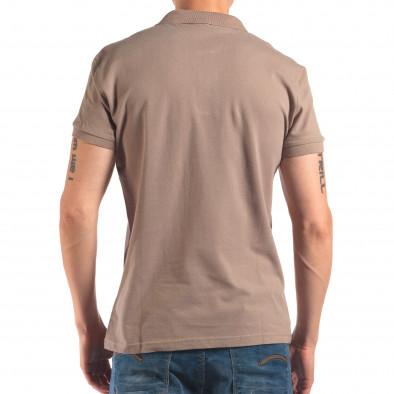 Tricou cu guler bărbați Bruno Leoni gri it150616-38 3
