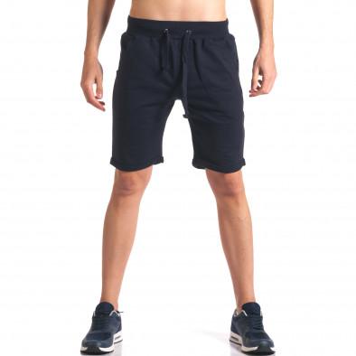 Pantaloni scurți bărbați New Men albaștri it260416-29 2