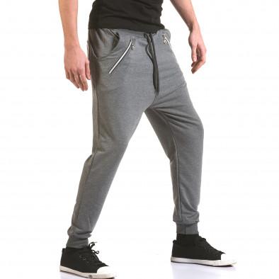 Pantaloni baggy bărbați Franklin gri il170216-141 4