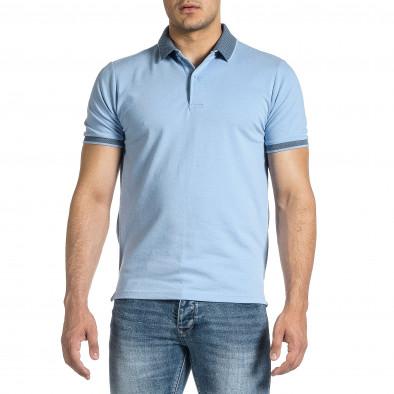 Tricou cu guler bărbați Baker's albastru it150521-13 3