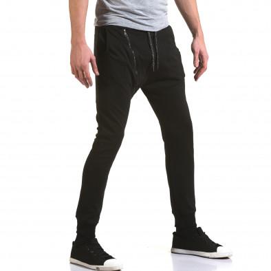 Pantaloni baggy bărbați Jack Berry negri it090216-48 4