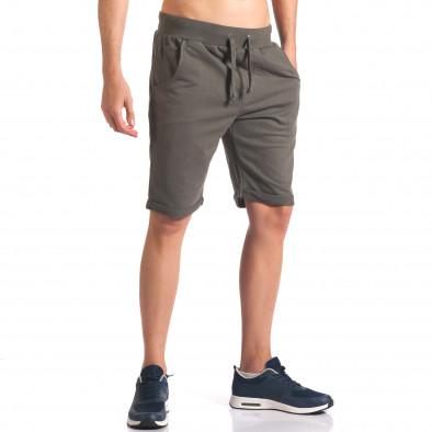 Pantaloni scurți bărbați New Men verzi it260416-27 4
