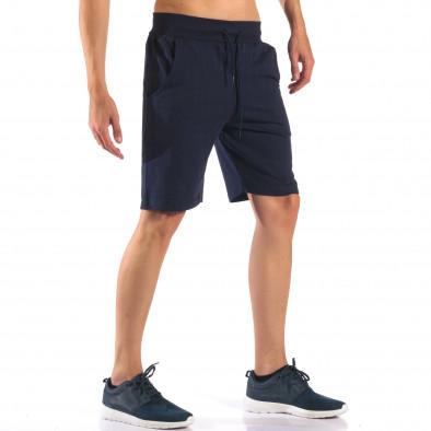 Pantaloni scurți bărbați Social Network albaștri it160616-9 4