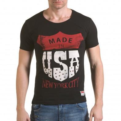 Tricou bărbați Click Bomb negru il170216-82 2