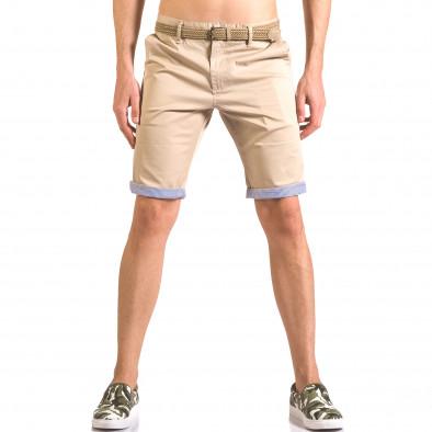 Pantaloni scurți bărbați Baci & Dolce bej ca050416-57 2