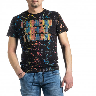 Tricou bărbați Jamez negru gr270221-52 2