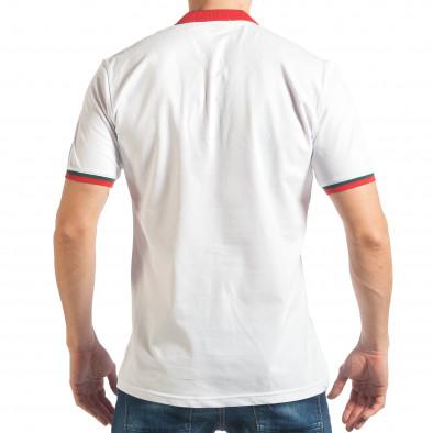 Tricou cu guler bărbați Black Island alb tsf020218-61 3