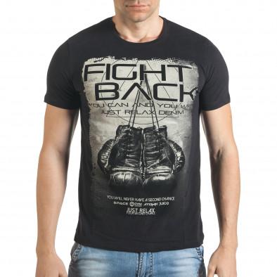 Tricou bărbați Just Relax negru il140416-27 2