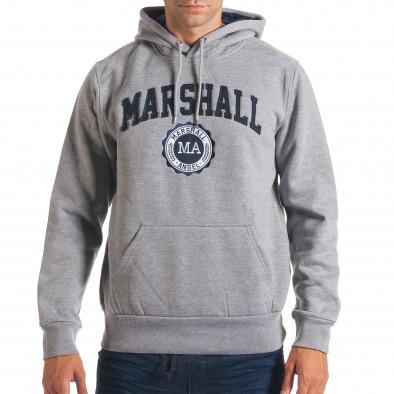 Hanorac bărbați Marshall gri it240816-34 2