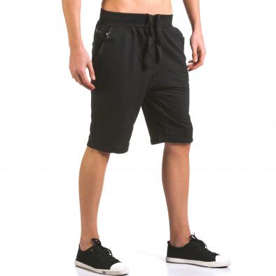 Pantaloni scurți bărbați Dress&GO negri it160316-22 4
