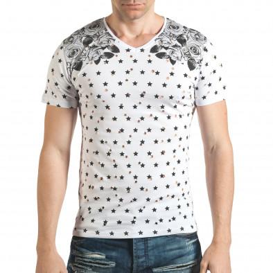 Tricou bărbați Lagos alb il140416-58 2