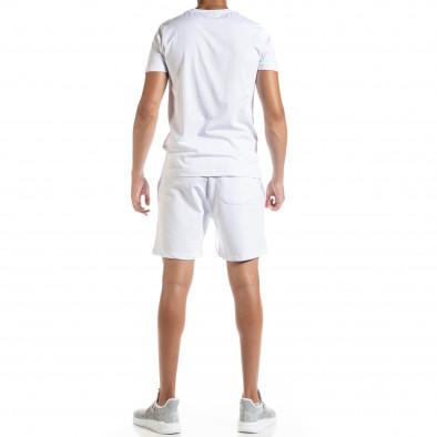 Set sportiv alb pentru bărbați Moon tr010720-1 3
