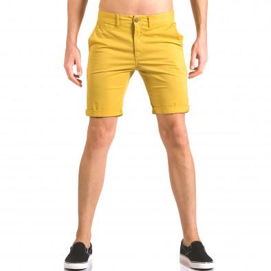 Pantaloni scurți bărbați XZX-Star galbeni ca050416-59 2