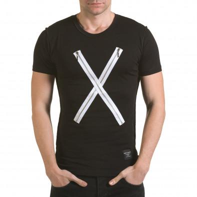 Tricou bărbați SAW negru il170216-59 2