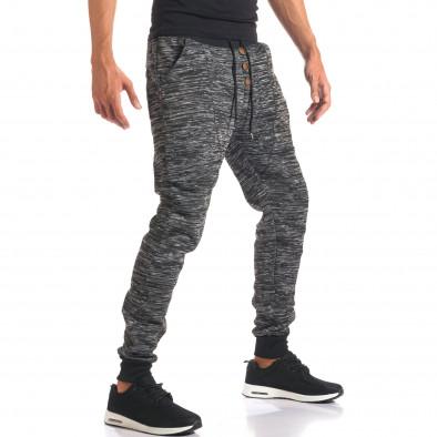 Pantaloni baggy bărbați Urbaboy gri it160816-33 4