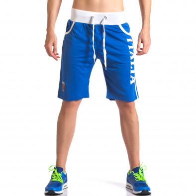 Pantaloni scurți bărbați Dress&GO albaștri it260416-18 2