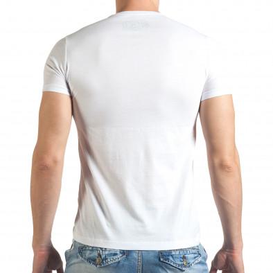 Tricou bărbați Just Relax alb il140416-19 3