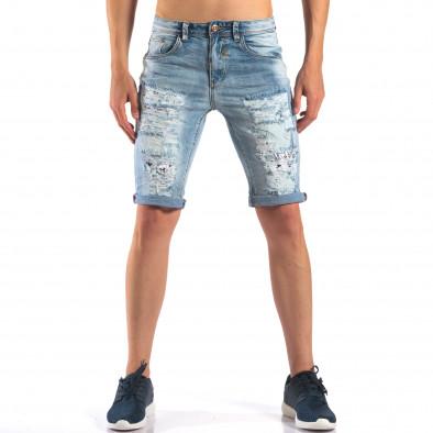 Blugi scurți bărbați Always Jeans albaștri it160616-17 2