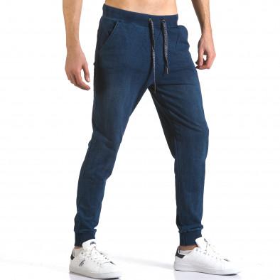 Pantaloni baggy bărbați Enos albaștri it090216-58 4