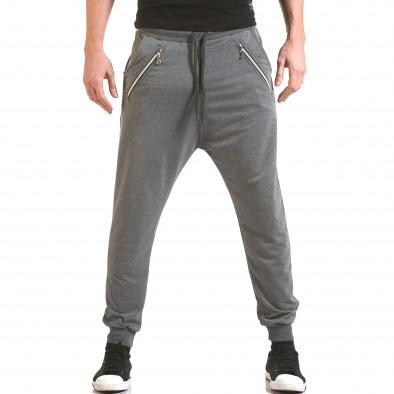 Pantaloni baggy bărbați Franklin gri il170216-141 2