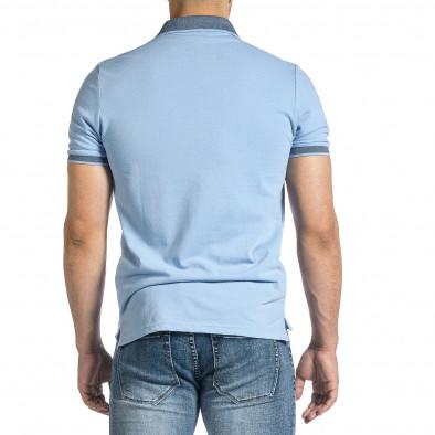 Tricou cu guler bărbați Baker's albastru it150521-13 4